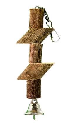 Игрушка для птиц Zoobaloo Брусочки с колоколом, 15 см