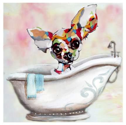Репродукция 60x60 см Hoff Собака в ванне