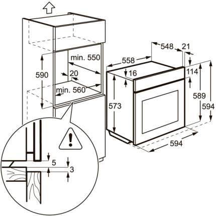 Встраиваемый электрический духовой шкаф Electrolux EOB93434AX Silver