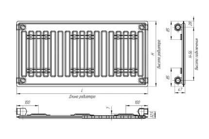 Радиатор стальной Лидея ЛУ 10-316