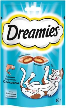 Лакомство Dreamies для взрослых кошек с лососем, 6 шт по 60г
