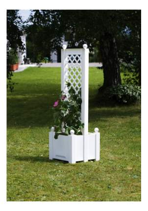 Подставка для цветов KHW Маленький ящик для растений белый