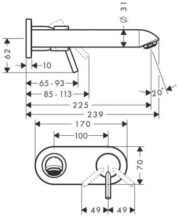 Смеситель для встраиваемой системы Hansgrohe Talis 31611000 хром