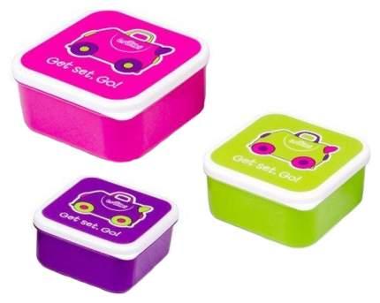 Контейнеры для еды Trunki 0300-GB01 Розовый, Фиолетовый, Зеленый 3 шт