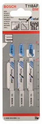 Набор пилок для лобзика Bosch T 118 AF, BIM 2608634694