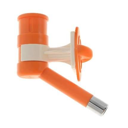 Поилка ниппельная с шариком для кошек и собак V.I.Pet, оранжевый, под ПЭТ бутылку