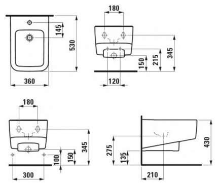 Биде подвесное LAUFEN Pro S 0518.3096.1.000.302.1
