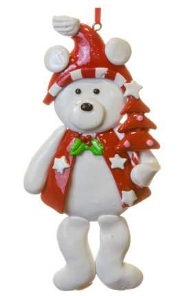Елочная игрушка Crystal Deco Мишка с конфетой - Елочка MA8952ABC 12 см 1 шт.