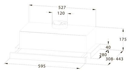 Вытяжка встраиваемая Midea MH60P303GI Beige
