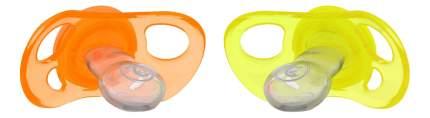 Пустышка силиконовая С 6 мес жёлто-оранжевая 2 шт. Twistshake
