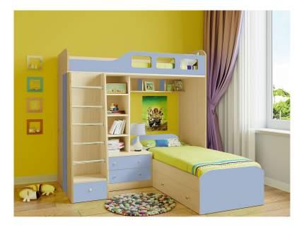 Двухярусная кровать РВ мебель Астра 4 дуб молочный/голубой