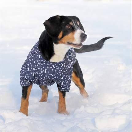 Жилет для собак OSSO Fashion размер 5XL унисекс, синий, длина спины 65 см