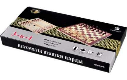 Настольная игра Shantou Gepai 3 в 1 Шашки шахматы нарды W001L