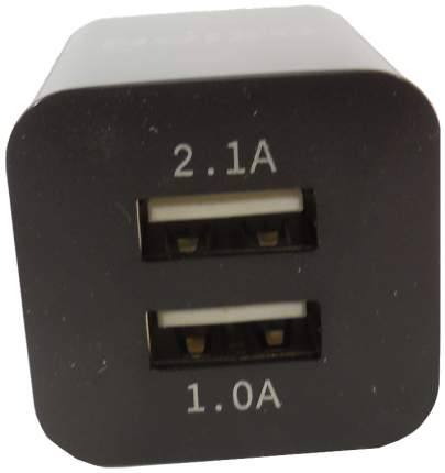 Сетевое зарядное устройство Oxion 2 USB 2,1А Black