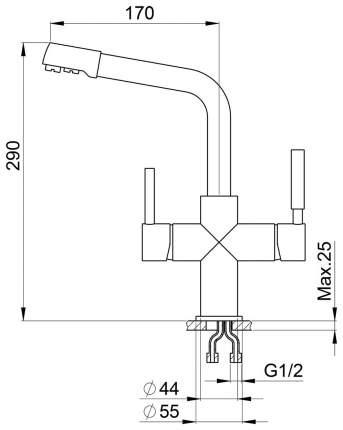 Смеситель для кухонной мойки Granula GR-2015 песок