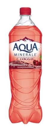 Вода Aqua Minerale газированная с соком черешни пластик 1.5 л  6 штук в упаковке