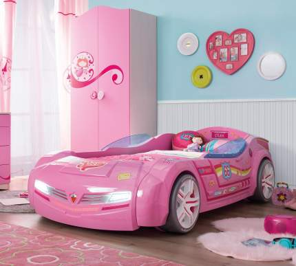 Кровать-машина Cilek Carbed BiTurbo розовая 90х195