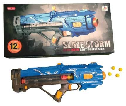 Бластер электронный Наша игрушка с мягкими пулями 12