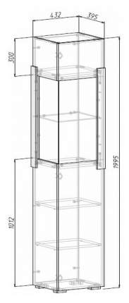 Платяной шкаф МФ Мелания MEL_1907 199,5х48,8х39,5, белый/дуб вотан