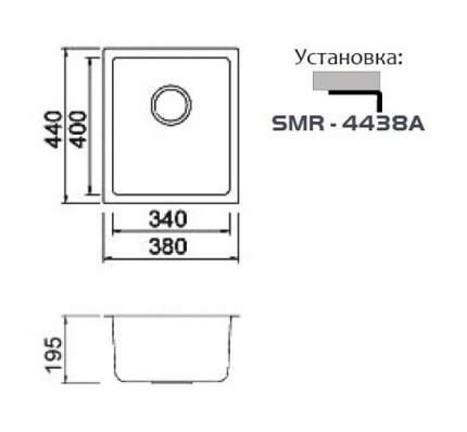 Мойка для кухни из нержавеющей стали Seaman Eco Roma SMR-4438A