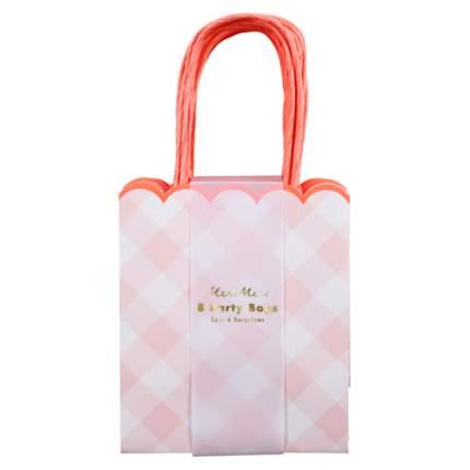 Пакеты для подарков гостям Meri Meri Клетка Гингем