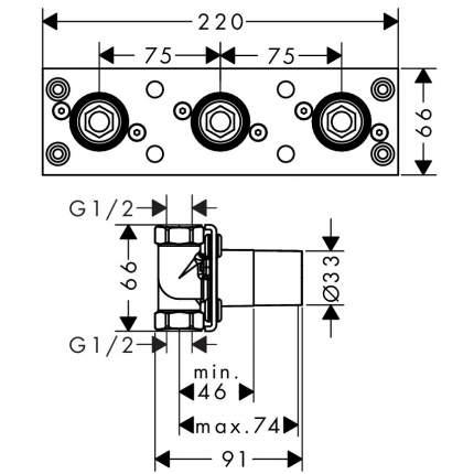 Смеситель для встраиваемой системы Hansgrohe ShowerTablet 600 13129180