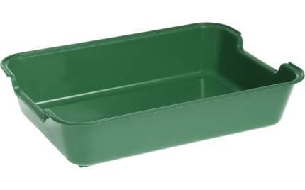 Лоток для кошек HOMECAT с низким бортом, зеленый, 37 х 27 х 8 см