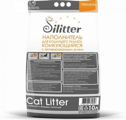 Комкующийся наполнитель для кошек Silitter бентонитовый, 8 кг, 10 л
