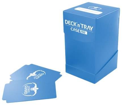 Коробочка Ultimate Guard на 100 карт с отделением для кубиков, синяя