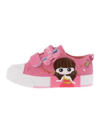 Кеды СЧАСТЛИВЫЙ РЕБЕНОК Princess, цвет: розовый, размер: 28