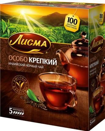 Чай Лисма особо крепкий черный 100  пакетиков
