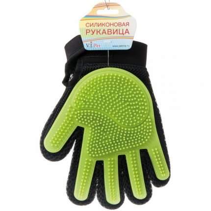 Рукавица для вычесывания V.I.Pet цвет зеленый