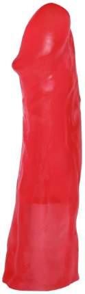 Розовая реалистичная насадка для трусиков с плугом 19,5 см