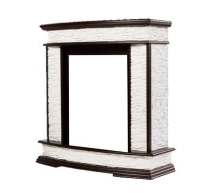 Портал из камня для камина Electrolux Scala 25 сланец белый/ тёмный дуб