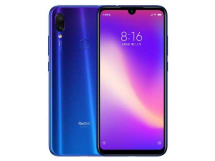 Смартфон Xiaomi Redmi Note 7 128Gb Blue+Mi In-Ear Basic+Mi Power Bank 5000+защитное стекло