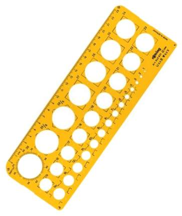 Шаблон чертежный Rotring Окружности 25 см пластик S0221691