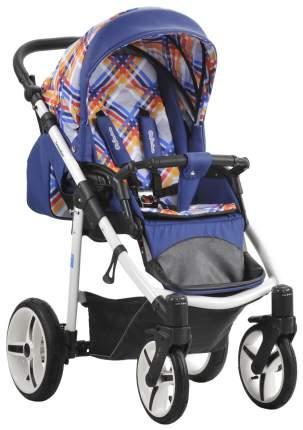 Прогулочная коляска Mr Sandman Traveler Premium Синий Принт Клетка Синий Кожа SL05