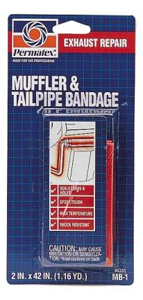 Лента-бандаж для выхлопной системы Permatex 80331 Muffler & Tailpipe Bandage MB1 5*106см