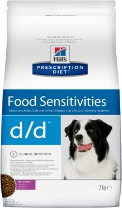 Сухой корм для собак Hill's Prescription Diet d/d Food Sensitivities, утка, 2кг