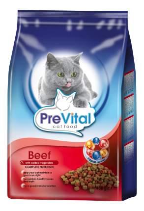 Сухой корм для кошек PreVital, говядина и овощи, 0,4кг