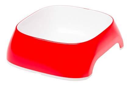 Одинарная миска для кошек Ferplast, пластик, красный, белый, 0.4 л