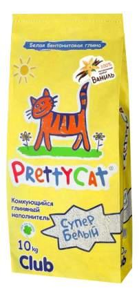 Комкующийся наполнитель для кошек PrettyCat Супер белый бентонитовый, 10 кг, 40 л
