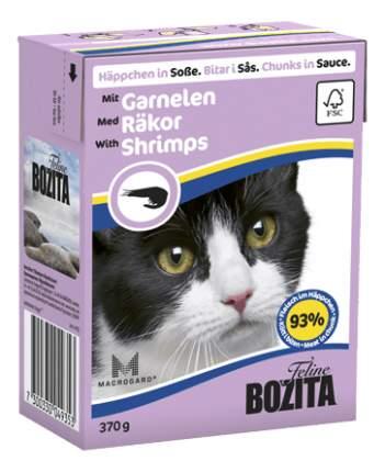 Влажный корм для кошек BOZITA Feline, креветки, 16шт по 370г