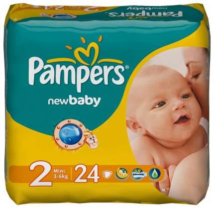 Подгузники для новорожденных Pampers New Baby Mini 2 (3-6 кг), 24 шт.