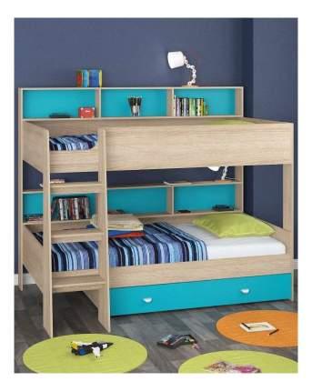 Двухъярусная кровать Golden Kids 1 дуб сонома/голубая