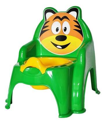 Горшок детский Doloni Тигра зеленый