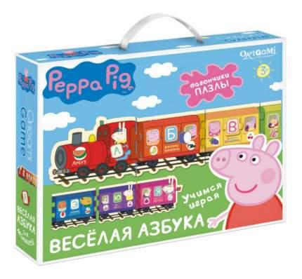 Семейная настольная игра Оригами Peppa Pig.Паровозик, веселая азбука
