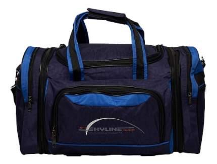 Дорожная сумка Polar 6067 синяя/голубая 47 x 26 x 31
