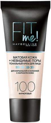 Тональный крем MAYBELLINE, Матовая кожа + невидимые поры, тон 100 Фарфоровый