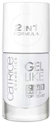 Верхнее и базовое покрытие CATRICE Gel Like 2in1 Base & Top Coat 10 мл